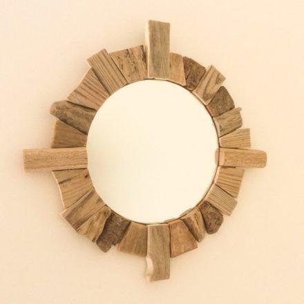 Miroirs en bois flott carr s ronds ou rectangulaires for Miroirs rectangulaires bois