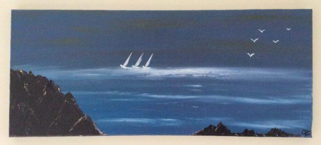 Tableau Mer bleue