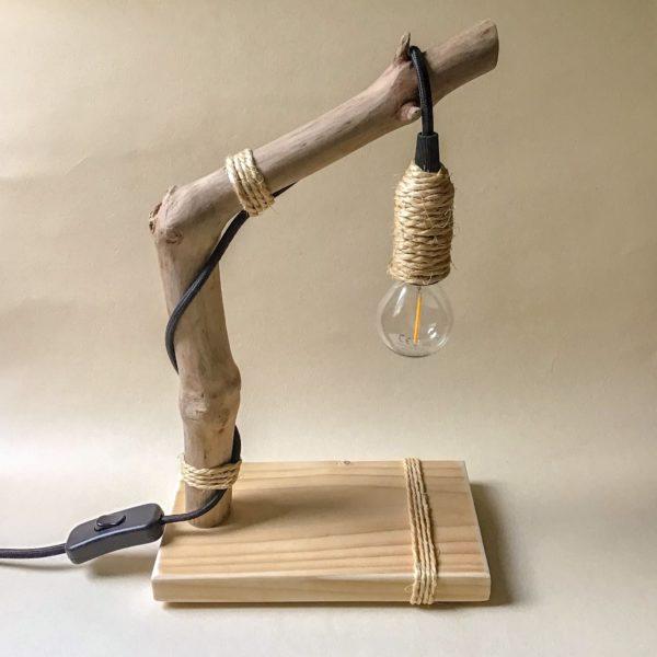Lampe de bureau en bois flotté Landibilic