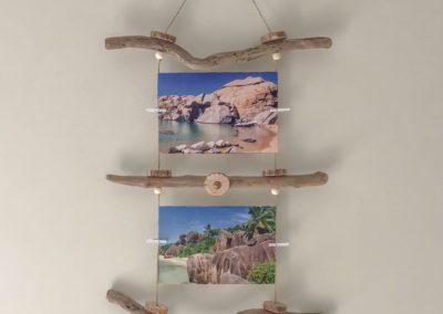 Cadre en bois flotté pour photos Kergaër